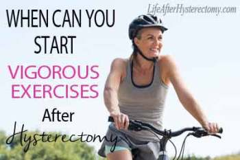 vigorous exercises after hysterectomy