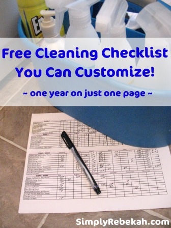 cleaning checklist
