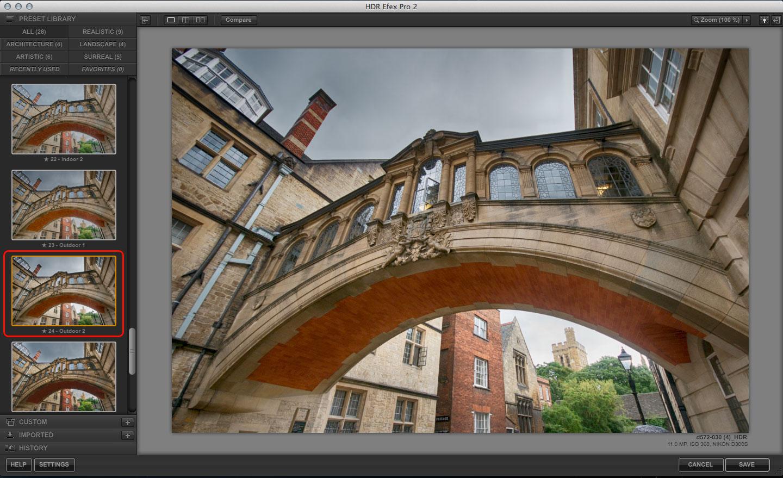 HDR Efex Pro 2 presets