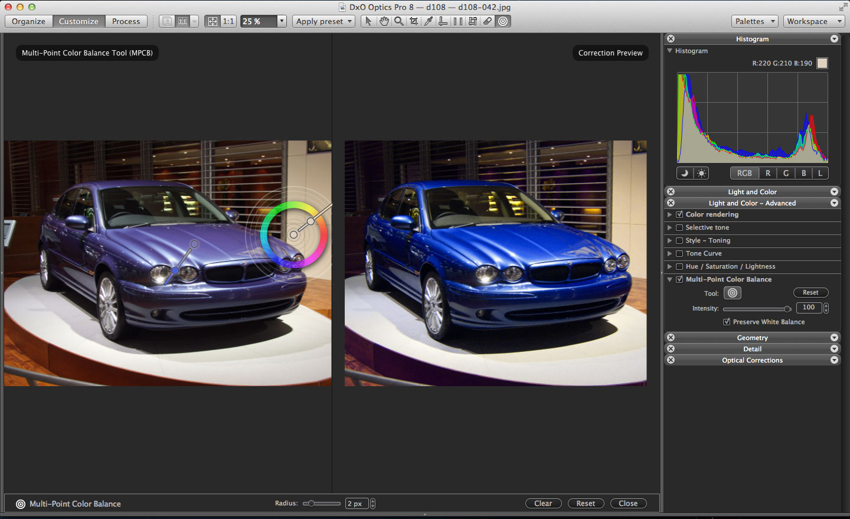 DxO Multi-Point Color Balance tool