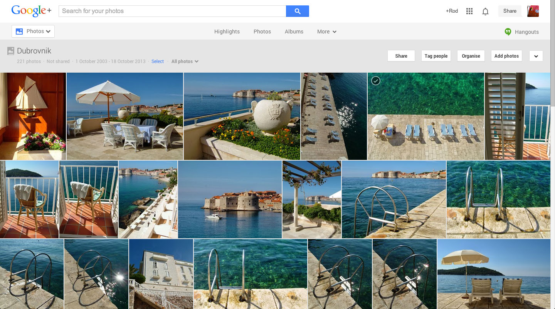 Google+ Snapseed editor