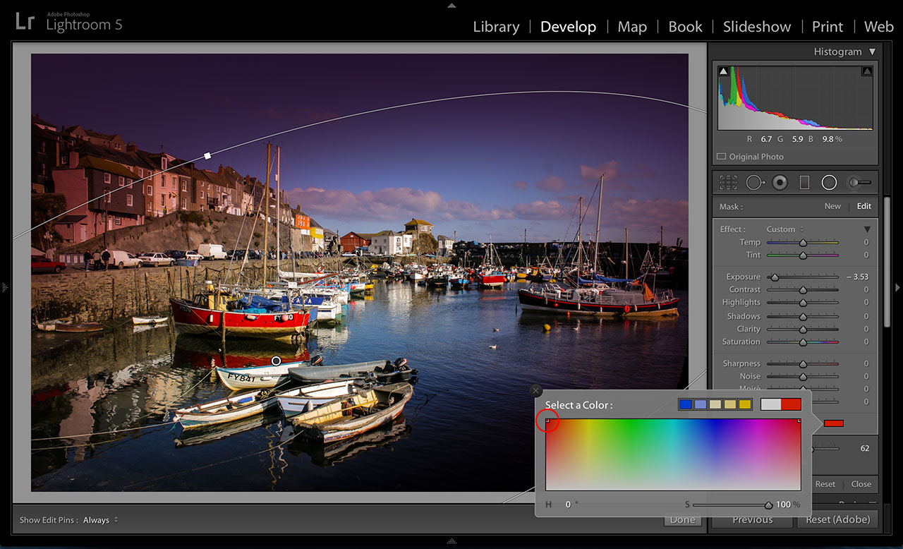 Lightroom Radial Filter tool