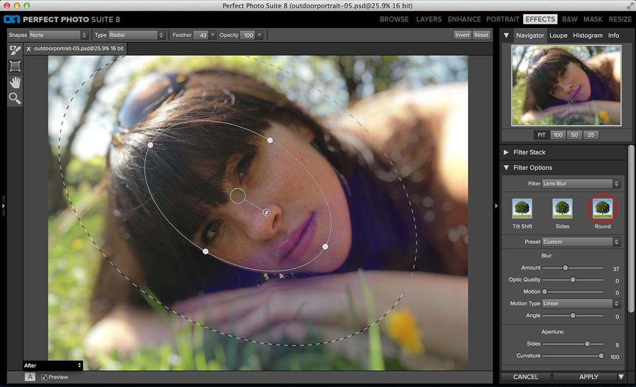Perfect Effects 8 Lens Blur filter