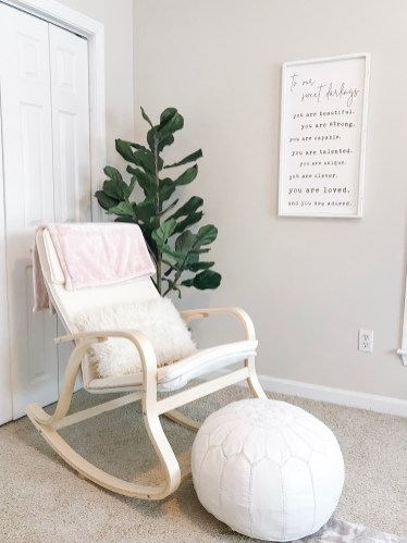 Rocking Chair in Girls Nursery