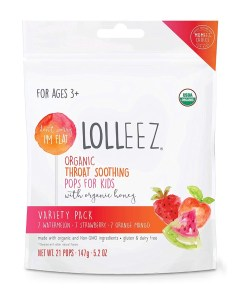 Lolleez Organic Throat Pops for Kids