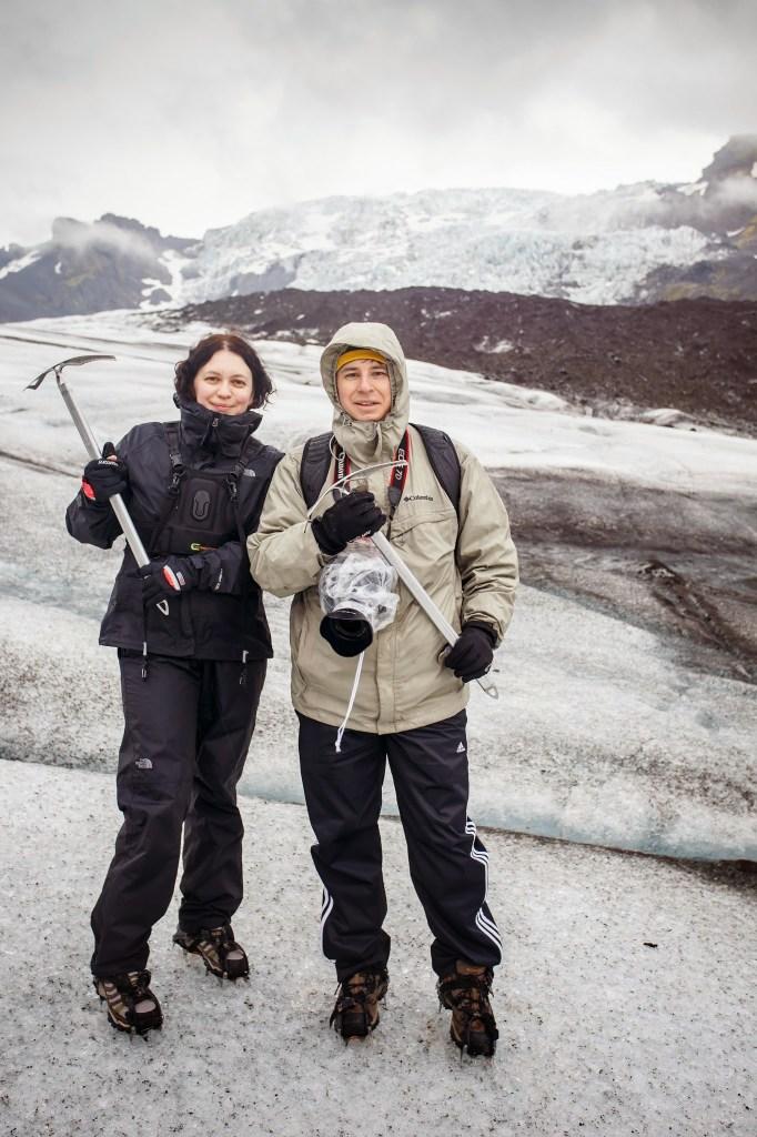 We are on the glacier