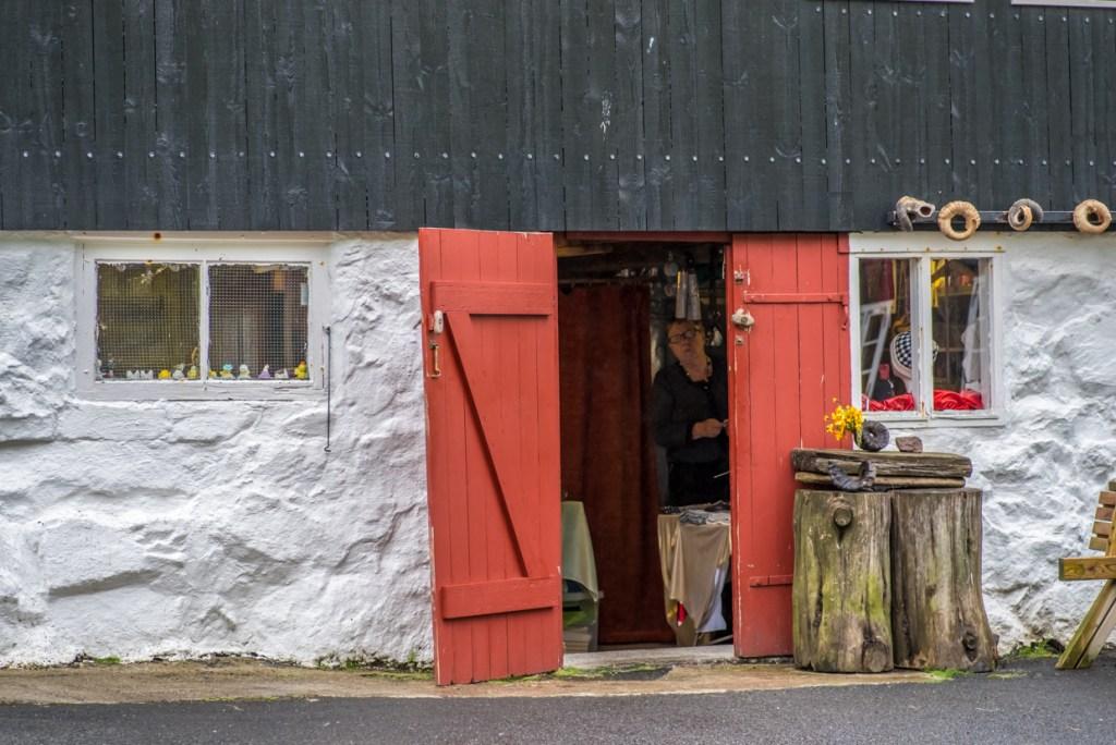A souvenir shop in Tjørnuvík