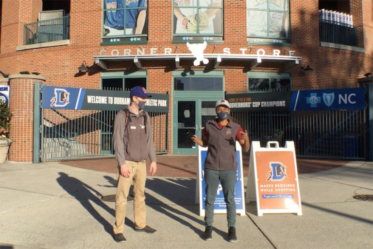 Real Science team at the Durham Bulls Park