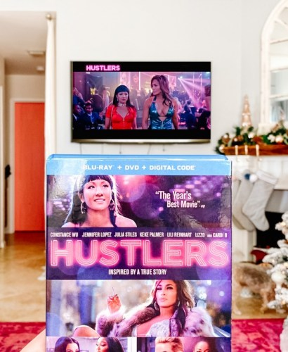hustlers movie in family room