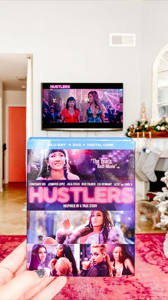 hustlers movie in family room