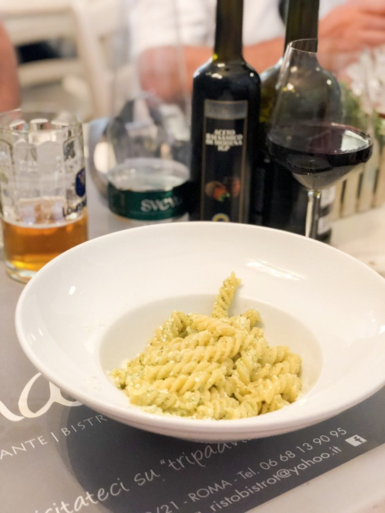 Travel Diary | Pesto Pasta at Mama Bistrot in Rome, Italy