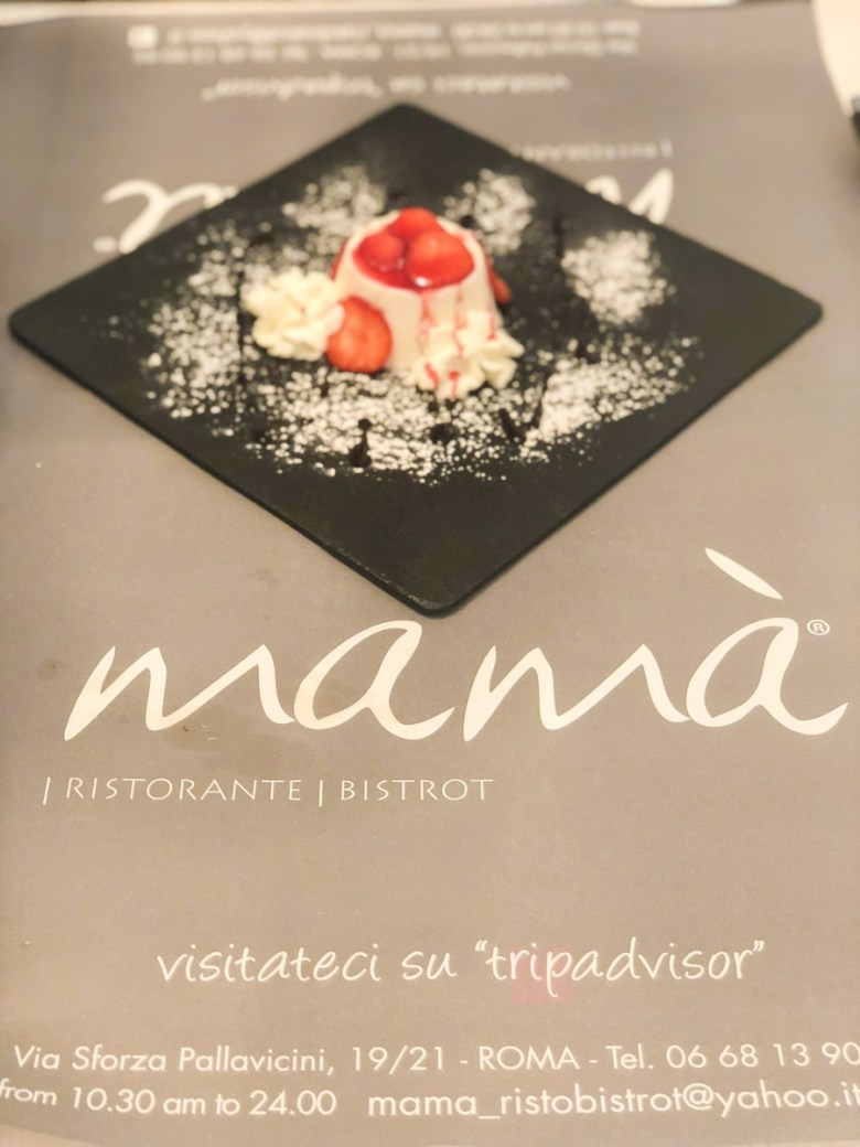 Travel Diary | Dessert at Mama Bistrot in Rome, Italy