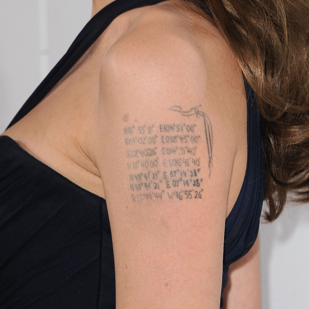 Angelina Jolies Tattoos Did You Know She Has One For Brad Pitt