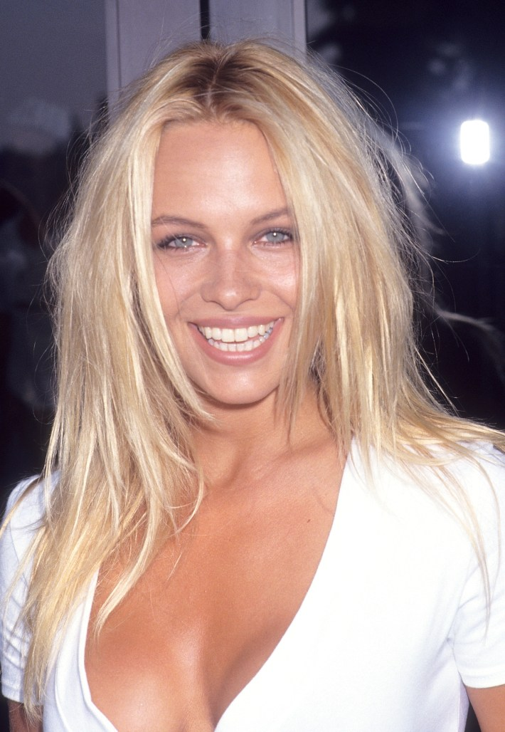 pamela anderson now: the former playboy playmate toned down her look