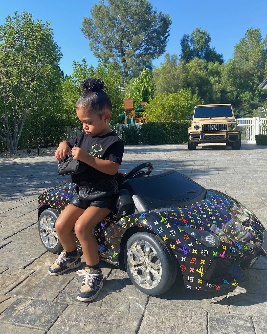 Kylie Jenner's Daughter Stormi Has a Louis Vuitton Toy Car: Photos