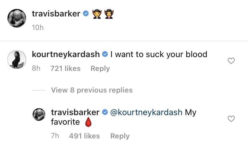 Kourtney Kardashian 'Wants to Suck' Boyfriend Travis Barker's 'Blood' After PDA-Filled Vegas Weekend