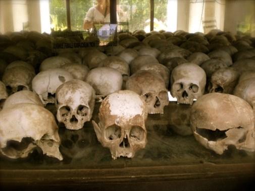 human skulls Cambodia