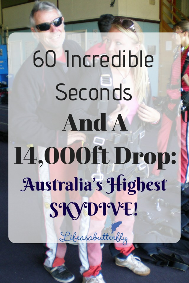 60 incredible seconds and a 14,000ft drop: Australia's highest SKYDIVE!!!!!!!!!
