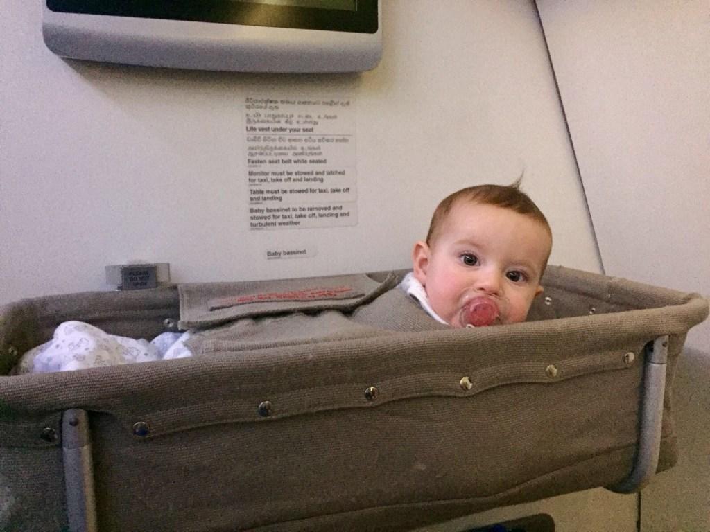 baby sleeping travelling