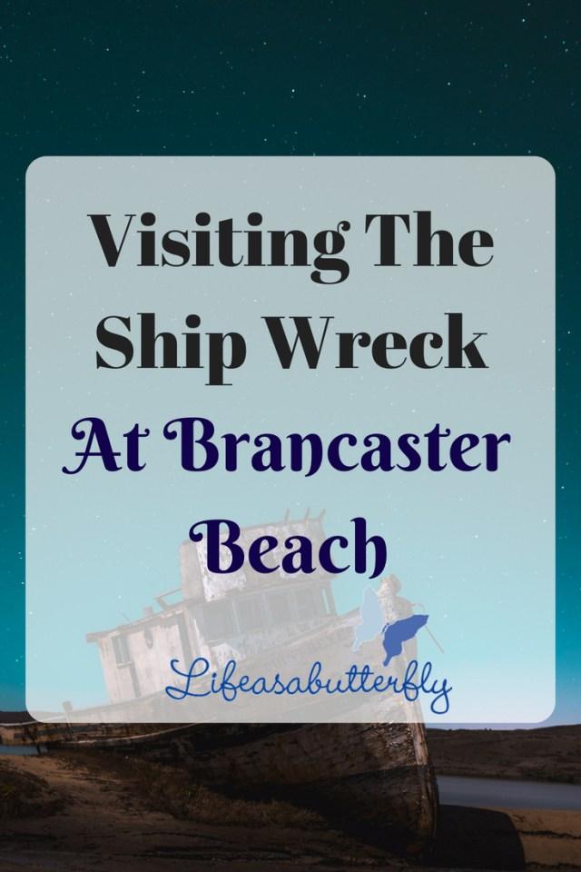 Visiting the Ship Wreck at Brancaster Beach