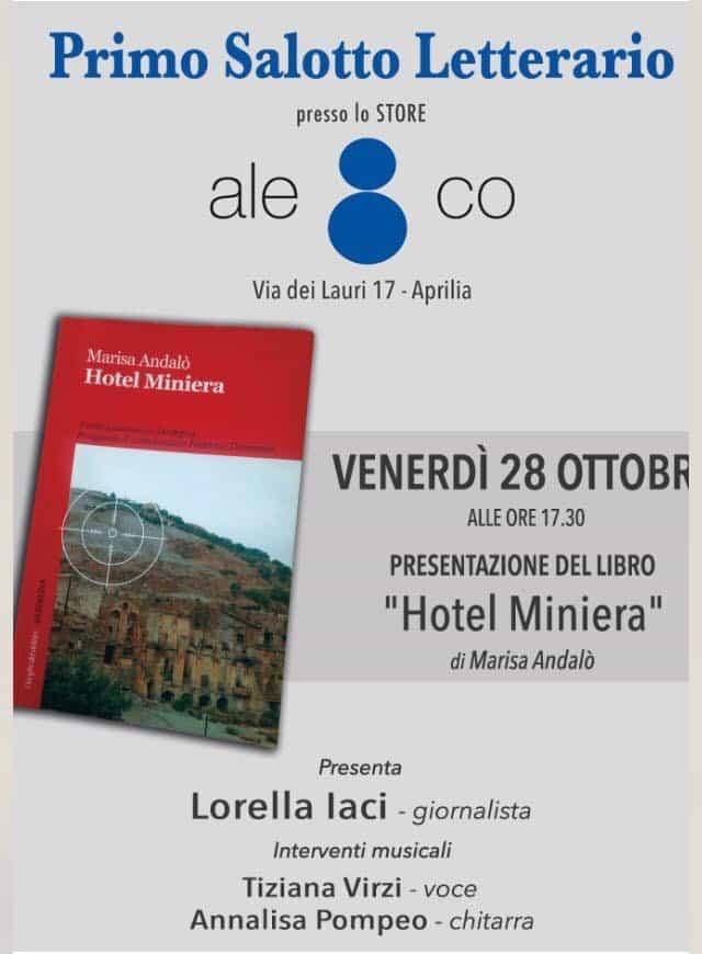 """Presentazione del libro """"Hotel Miniera"""" di Marisa Andalò"""