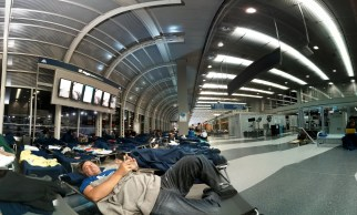 Night at the airport