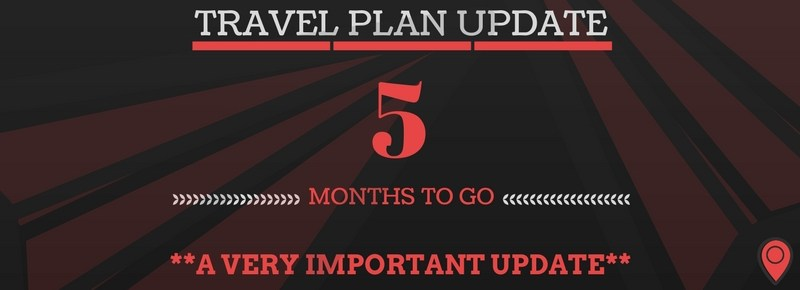 Travel Plans: 5 Months To Go Update