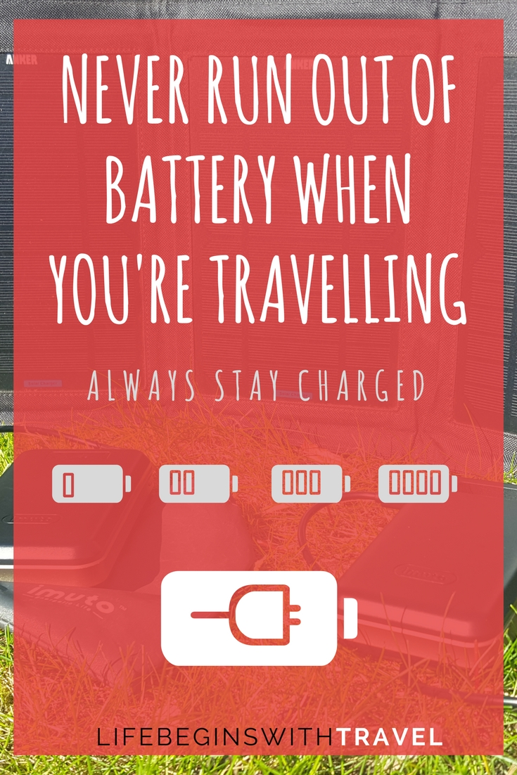 A guide to portable chargers and solar chargers to keep your phone, camera, tablet, and Kindle fully charged when you're out and about travelling, camping or at a festival.