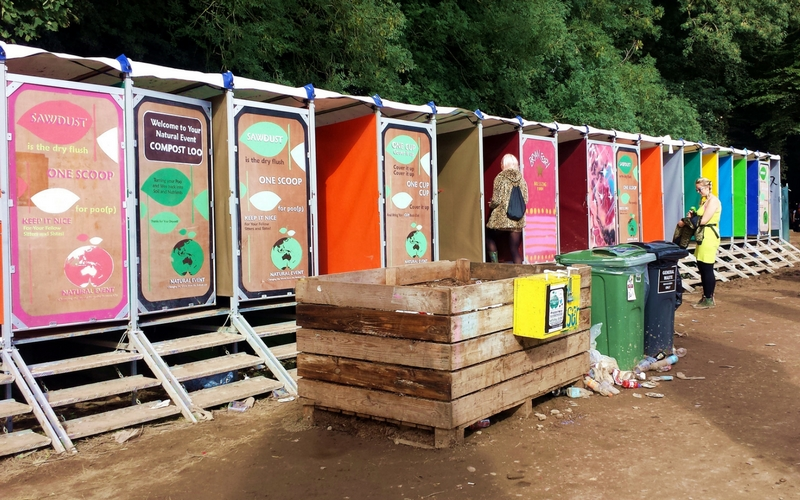 How to be more eco-friendly at music festivals - compost toilets