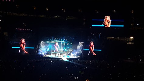 Taylor Swift performs during her 1989 World Tour stop in East Rutherford, NJ.  PHOTO: Nathan Davison