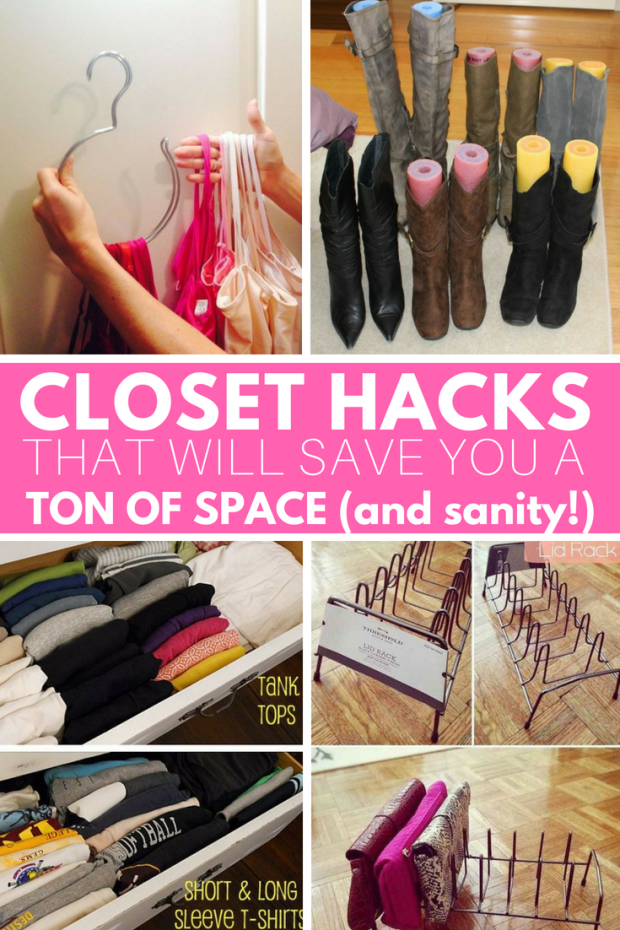 Closet Hacks that will save you a ton of space and money!