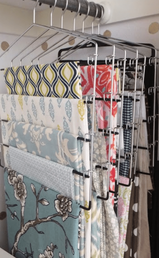 How to store extra fabric in your craft room!