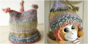 A Pair of Knit Hats Perfect for Little Ones