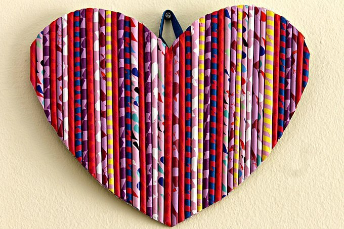 Paper Reed Heart for Valentine's Day~Creative Craft Bloggers Challenge #ccbg~Life Beyond the Kitchen