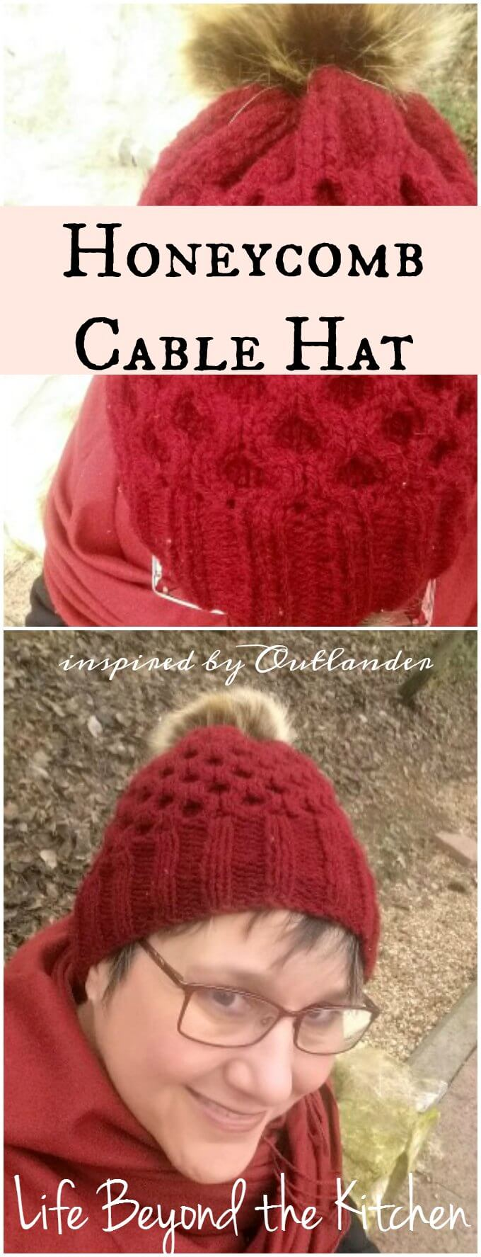 Outlander Inspired Honeycomb Cable Hat ~ Life Beyond the Kitchen