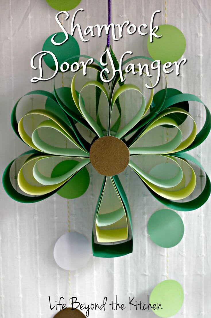 Shamrock Door Hanging ~ Destash Craft Challenge ~ Life Beyond the Kitchen