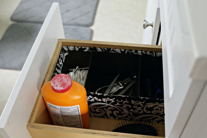 Custom Vanity Storage for Next To Nothing ~ #CraftyDestash ~ Life Beyond the Kitchen
