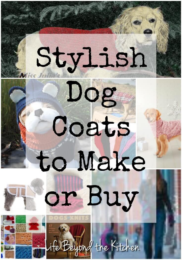 Make your best friend's tail wag with a great looking coat. Choose from patterns to make yourself or buy something stylish.