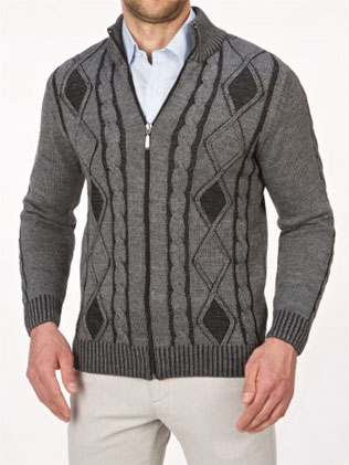sweter zapinany