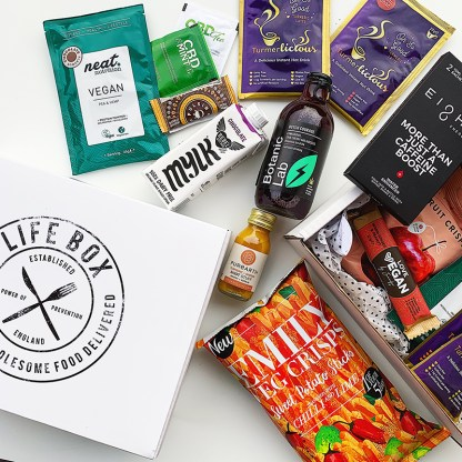 Lifebox November vegan gifts and snacks