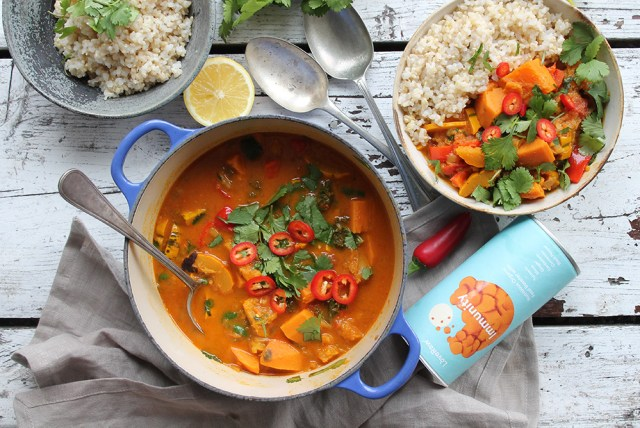 An immunity boosting curry in a pot