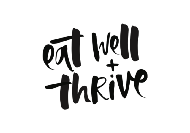 Eat Well + Thrive graphic