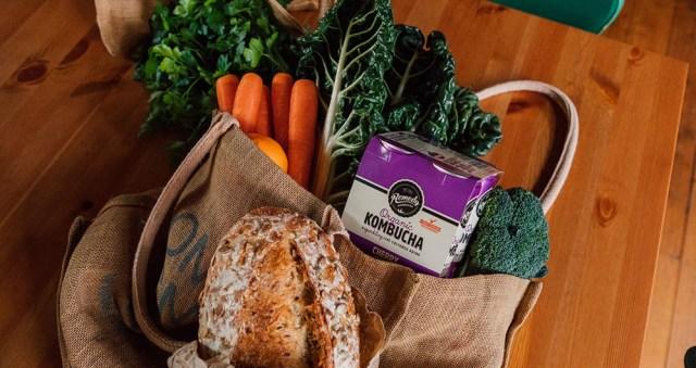 Remedy Kombucha in grocery bag