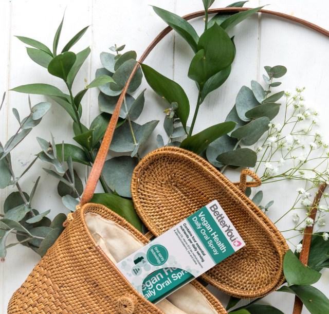 Better You Vegan Health Oral Spray in basket