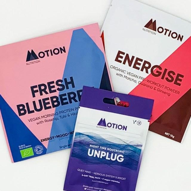 Motion Nutrition Vegan energy assortment