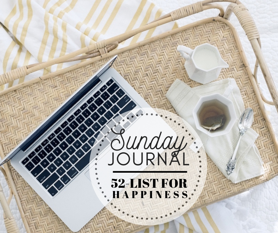 Sunday Journal: Chit-Chat … 52 List for Happiness [List #16]
