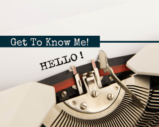 Get to know me header
