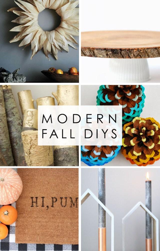 6 Modern Fall DIYs PIN