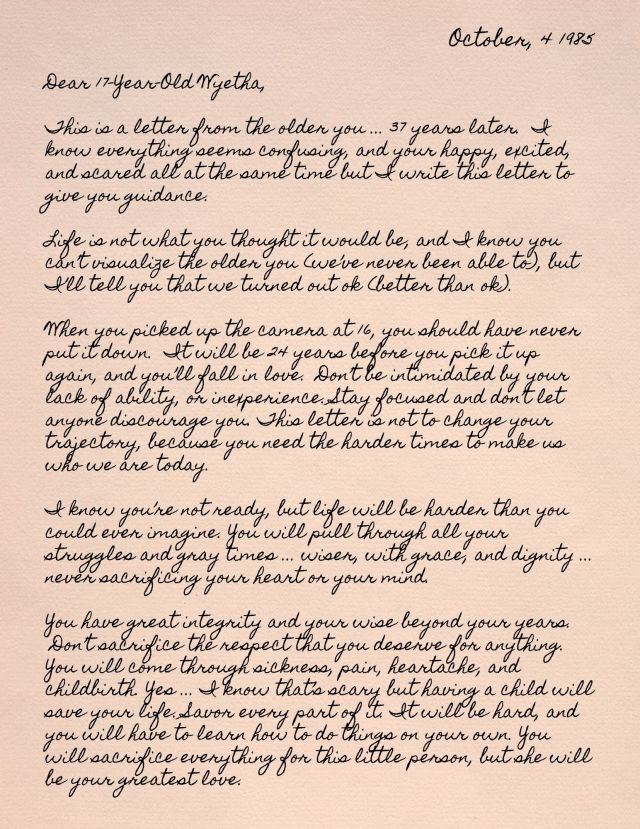 Letter to 17 Self
