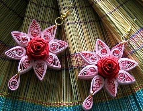 star-earrings-quilling